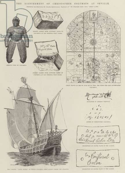 The Reinterment of Christopher Columbus at Seville (engraving)