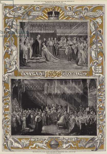 The Coronation of Her Majesty the Queen in Westminster Abbey, 28 June 1838 (colour litho)