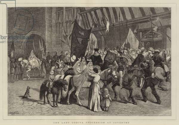 The Lady Godiva Procession at Coventry (engraving)