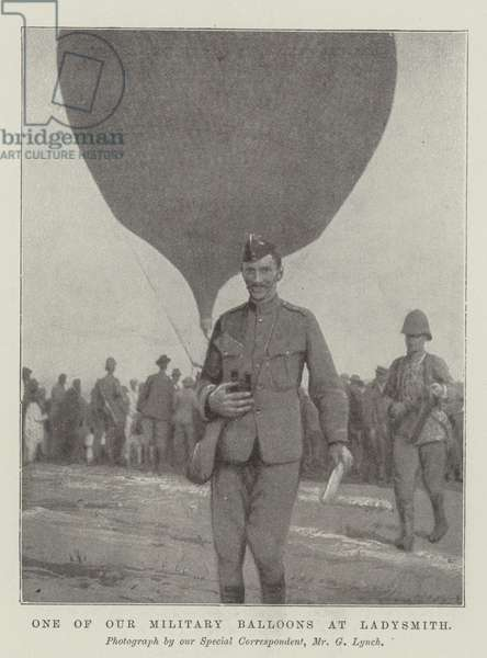 One of Our Military Balloons at Ladysmith (b/w photo)
