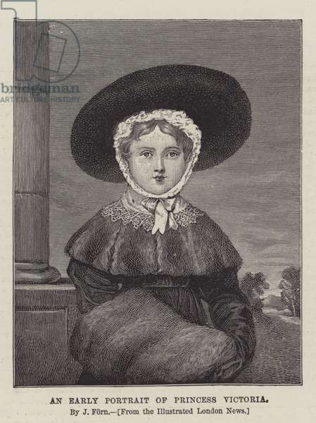 An Early Portrait of Princess Victoria (engraving)