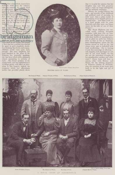 Princess Maud of Wales (b/w photo)