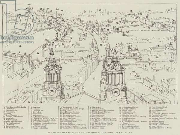 Key to the View of London and the Lord Mayor's Show from St Paul's (engraving)