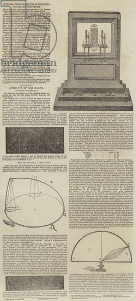 Electrographic Instruments and the Rotation of the Earth (engraving)