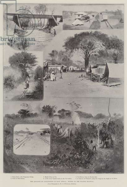 The Advance of Civilisation in East Africa, Scenes on the Uganda Railway (litho)