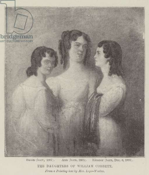 The Daughters of William Cobbett (litho)