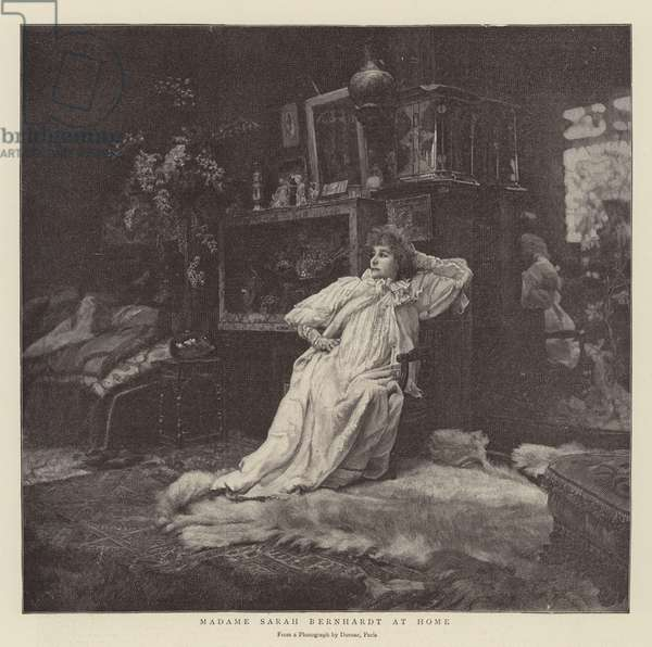 Madame Sarah Bernhardt at Home (engraving)