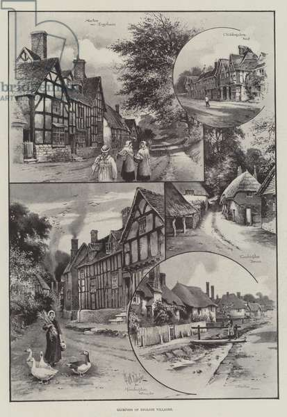 Glimpses of English Villages (engraving)