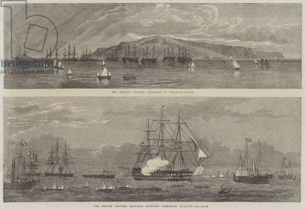 The British Channel Squadron (engraving)