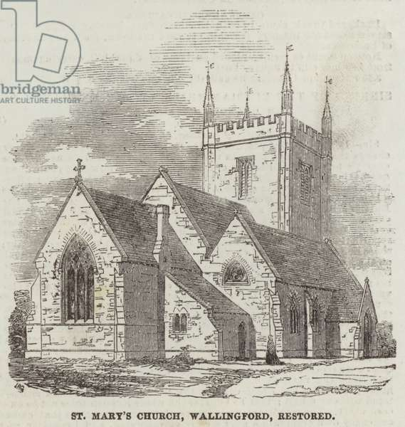 St Mary's Church, Wallingford, restored (engraving)