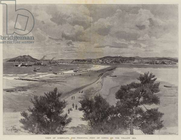 View of Chemulpo, the Principal Port of Corea on the Yellow Sea (litho)