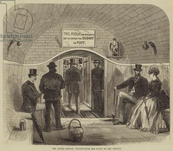 The Tower Subway, Waiting-Room and Entry to the Omnibus (engraving)