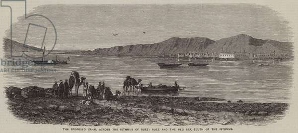 The Proposed Canal across the Isthmus of Suez, Suez and the Red Sea, South of the Isthmus (engraving)