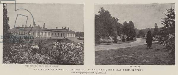 The Royal Pavilion at Aldershot where the Queen has been staying (b/w photo)