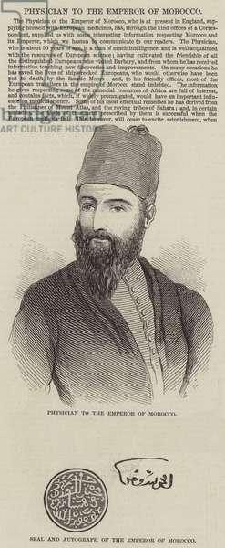 Physician to the Emperor of Morocco (engraving)
