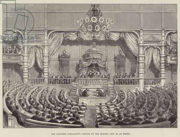 The Japanese Parliament, opened by the Mikado, 29 November, at Tokyo (engraving)