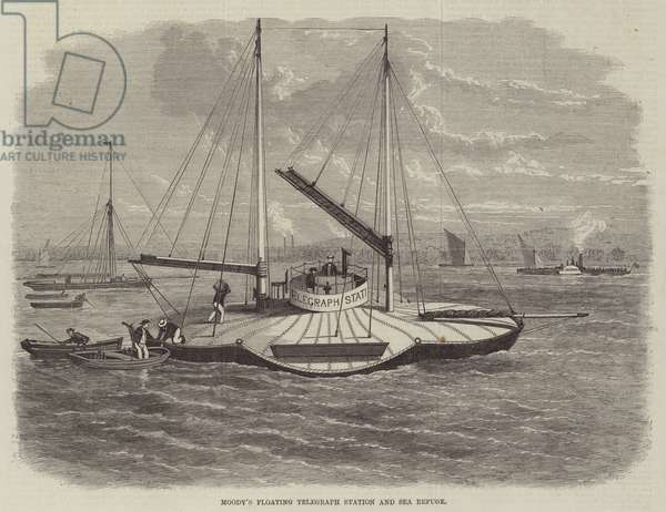 Moody's Floating Telegraph Station and Sea Refuge (engraving)