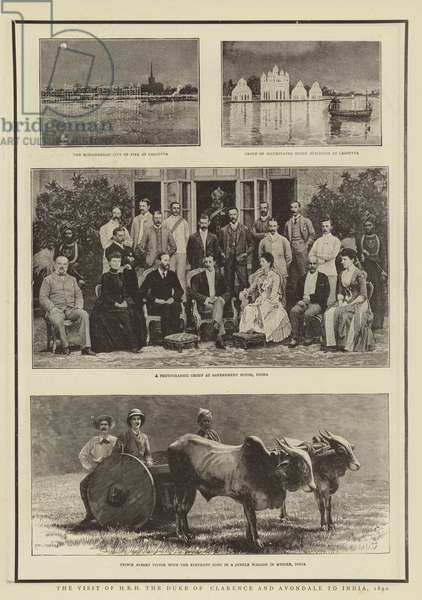 The Visit of HRH the Duke of Clarence and Avondale to India, 1890 (b/w photo)