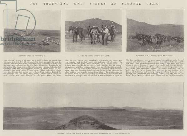 The Transvaal War, Scenes at Arundel Camp (litho)