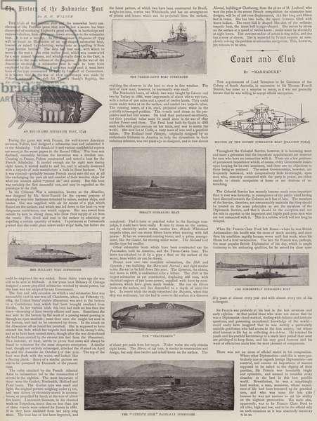 The History of the Submarine Boat (b/w photo)