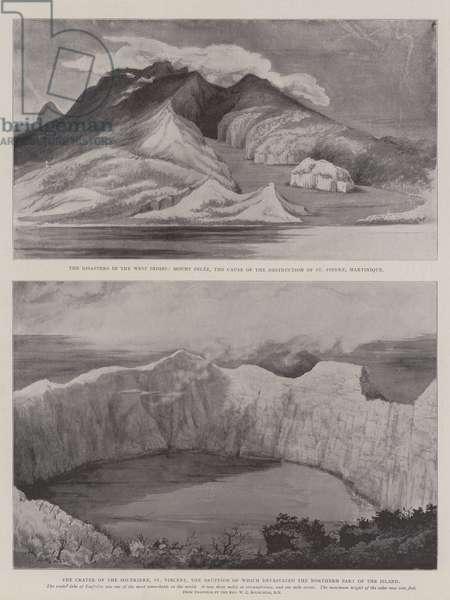 The Disasters in the West Indies (litho)