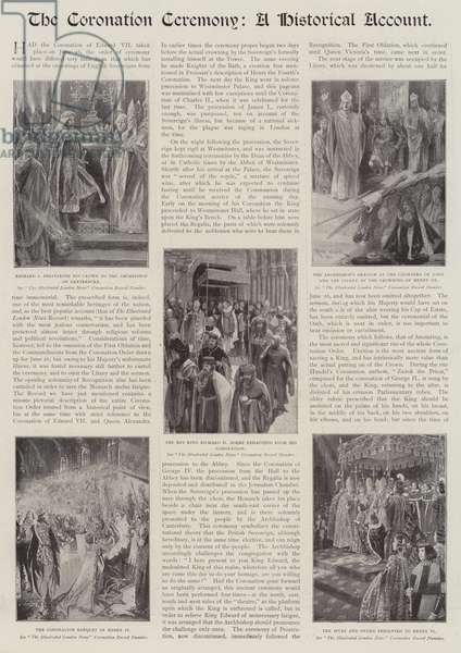 The Coronation Ceremony, a Historical Account (litho)