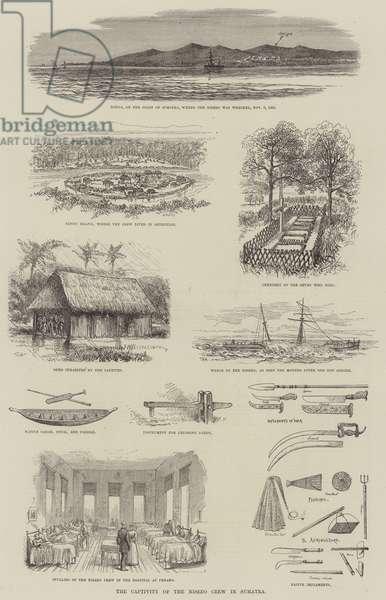 The Captivity of the Nisero Crew in Sumatra (engraving)