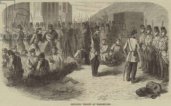 Drilling Troops at Marseilles (engraving)