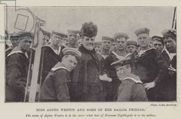 Miss Agnes Weston and Some of her Sailor Friends (engraving)