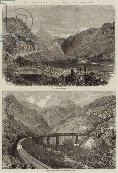 The Valparaiso and Santiago Railway (engraving)