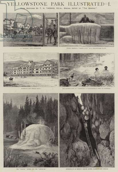 Yellowstone Park Illustrated, I (engraving)