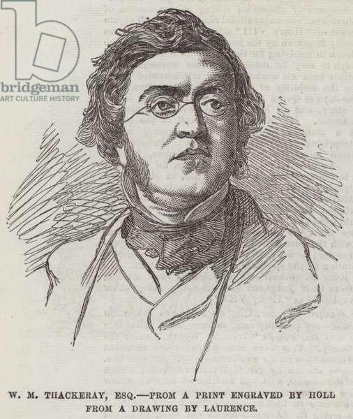W M Thackeray, Esquire (engraving)