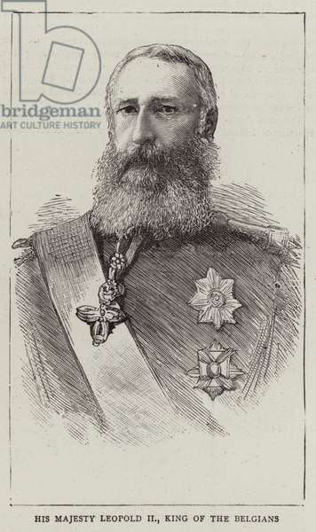 His Majesty Leopold II, King of the Belgians (engraving)