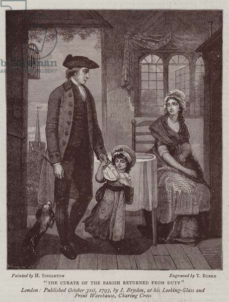 Dress, Manners, and Art in the Last Century (engraving)
