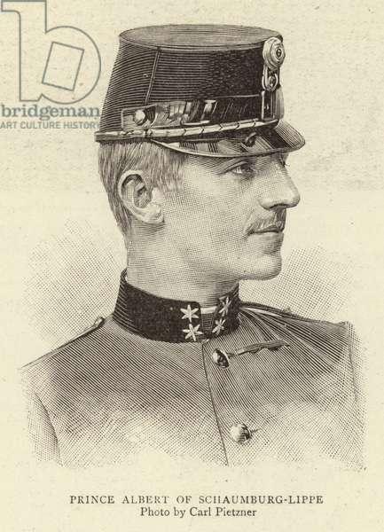 Prince Albert of Schaumburg-Lippe (engraving)
