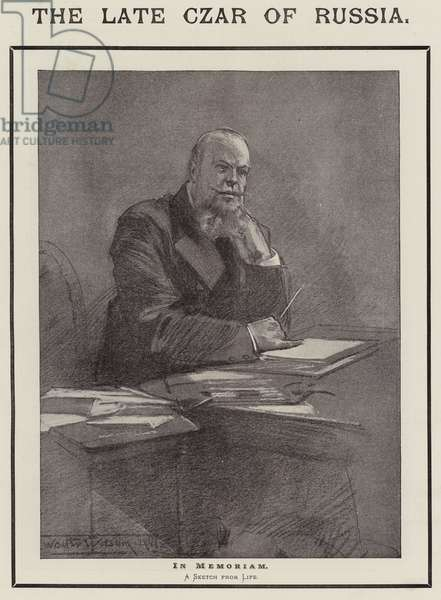 The Late Czar of Russia, In Memoriam (litho)