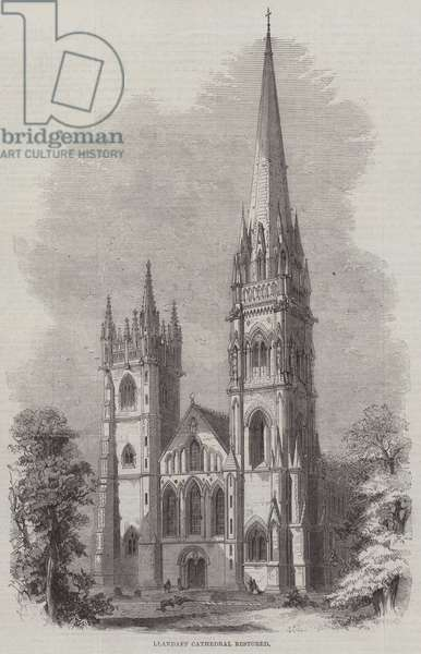 Llandaff Cathedral restored (engraving)
