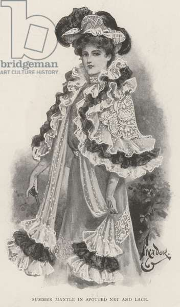 Summer Mantle in Spotted Net and Lace (litho)
