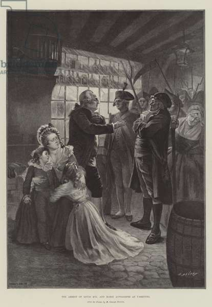 The Arrest of Louis XVI and Marie Antoinette at Varennes (engraving)