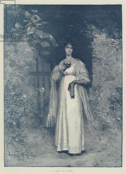 A Rose of Devon (colour litho)