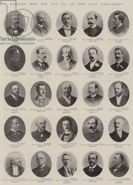 Members who did not sit in the Last Parliament (b/w photo)