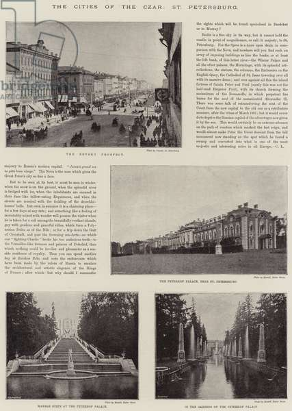 The Cities of the Czar, St Petersburg (b/w photo)