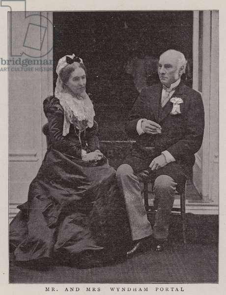 Mr and Mrs Wyndham Portal (b/w photo)