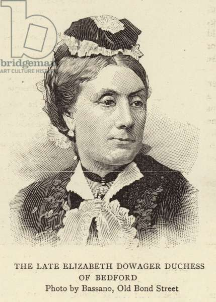 The Late Elizabeth Dowager Duchess of Bedford (engraving)