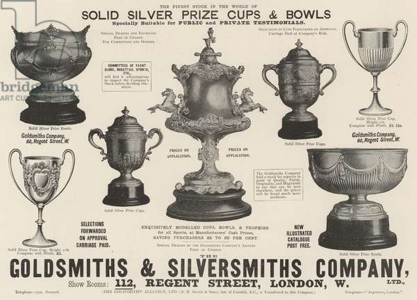 Advertisement, Goldsmiths and Silversmiths Company (engraving)