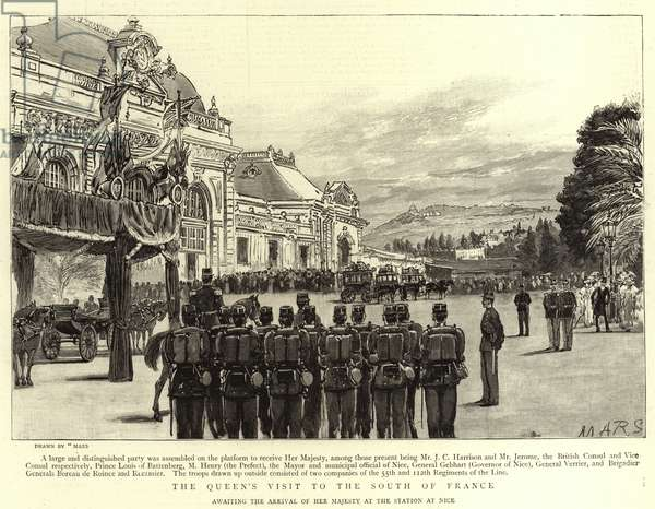 The Queen's Visit to the South of France (engraving)
