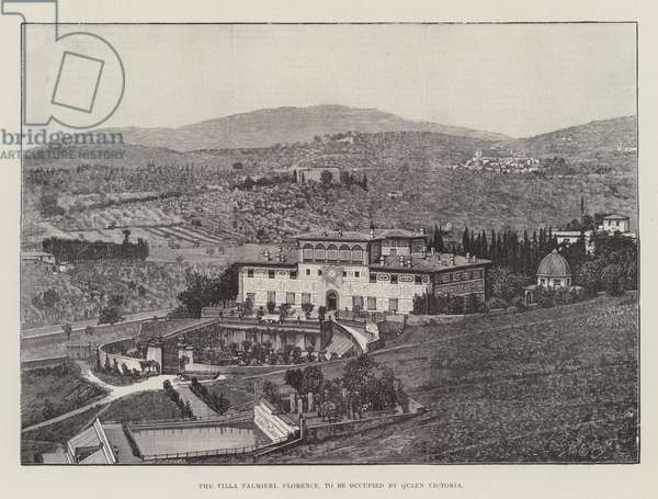 The Villa Palmieri, Florence, to be occupied by Queen Victoria (engraving)