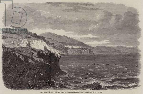 The Town of Monaco, on the Mediterranean (engraving)