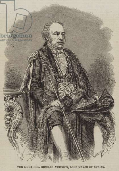 The Right Honourable Richard Atkinson, Lord Mayor of Dublin (engraving)