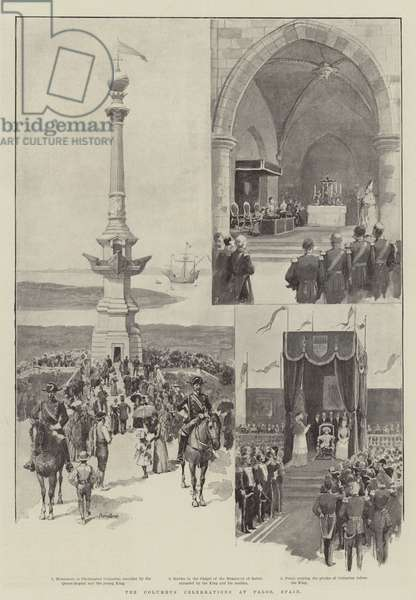 The Columbus Celebrations at Palos, Spain (engraving)